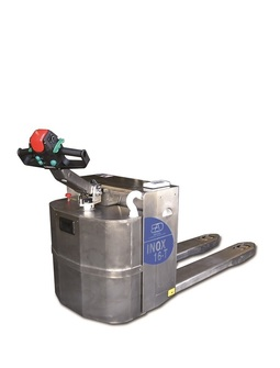 16-T Stainless steel electric pallet truck capacity from 1.600 Kg