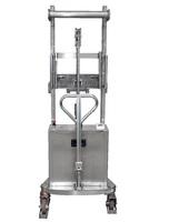 10-SE Gerbeur semi éléctrique INOX capacité de levage 1.000 Kg
