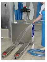 20-TP9 Stainless steel ride-on pallet truck capacity from 2.000 Kg