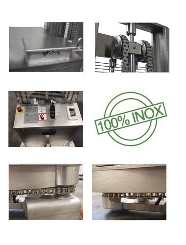 10-SE Manuele RVS stapelaar met elektrische vorkenheffing 1000 Kg