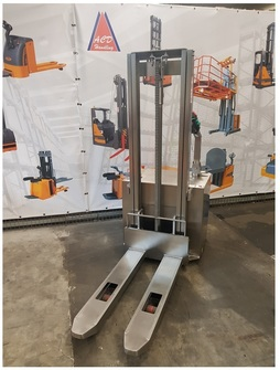12 Stainless steel electric stacker capacity from 1200 Kg