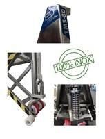 TMS-80 RVS manuele hoogheffende paletwagen hefvermogen 1000 Kg