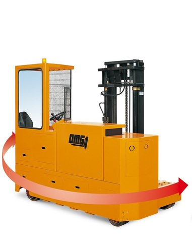 4 Way electric sideloader wirh reachmast OMG LAT Capacity from 2.000 kg