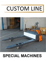 380P5-BLK Custom made electric pallet truck with straddle forks