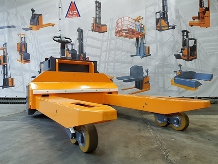 360BE-AF Custom made electric pallet truck with special forks