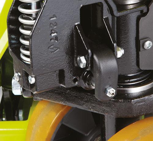 HX10 E transpalette à cisaux électrique poly 1150 x 540 1000kg + chargeur integres + indic. Batterie