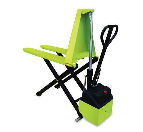 HX10 E electric high lift pallet truck poly 1150x540 mm 1000 kg + charger + battery gel