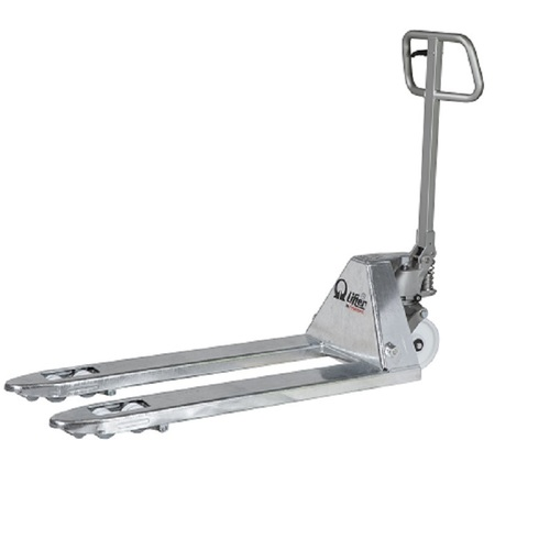Galvanised and stainless manual pallet truck